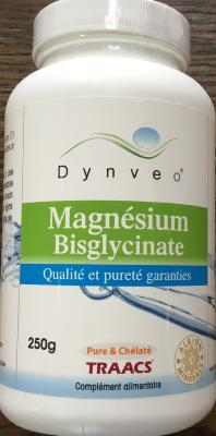 Magnsesium BISGLYCINATE  en  poudre 250 g - Dynveo