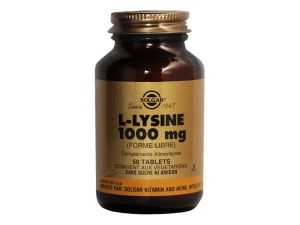 Lysine 1000 mg   50 tablets  SOLGAR