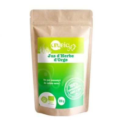 Jus d'herbe d'orge Bio  250 g  - crubio - force ultra nature