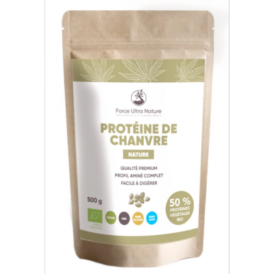 Protéine de Chanvre  bio - Force Ultra nature -   1kg